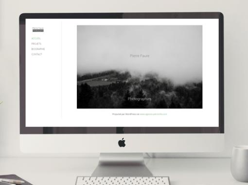 Pierre Faure | Site portfolio
